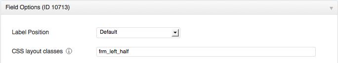 CSS classes option